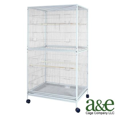 Extra Large Flight Bird Cage Color: Pure White