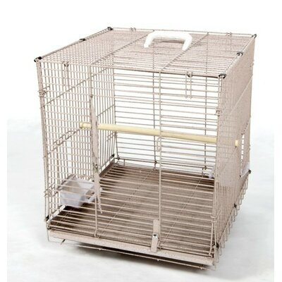 Folding Travel Carrier  Bird Cage Color: Black