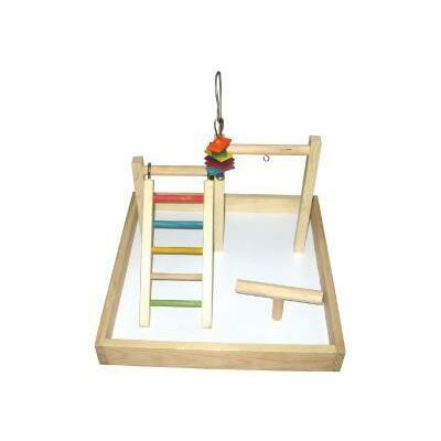 17x17x12 Wood Tabletop Play Station