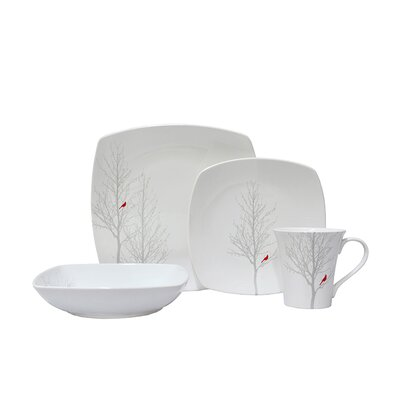 Winter Cardinal 16 Piece Dinnerware Set 1138RD801A1A03
