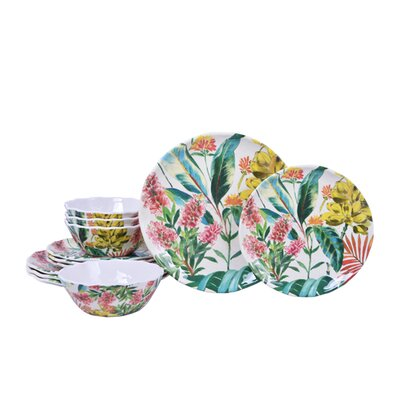 Tamea Melamine 12 Piece Dinnerware Set, Service for 4