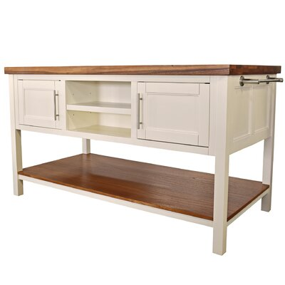 Lexington Kitchen Island Base Finish: Antique White
