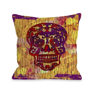 Dia De Los Muertos Skull Throw Pillow