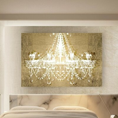 Dramatic Entrance Gold Graphic Art Print Format: Canvas, Size: 10