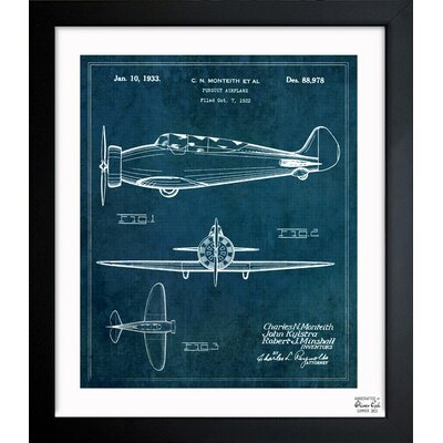 Oliver Gal Pursuit Airplane 1933 Framed Graphic Art
