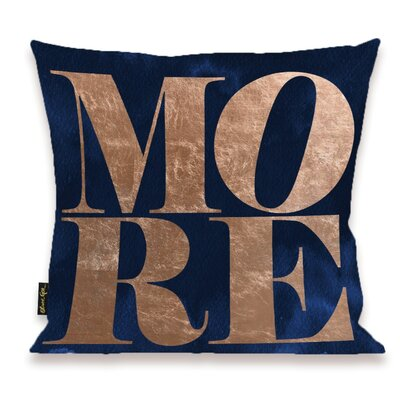 Pudsey Solid More Copper Throw Pillow