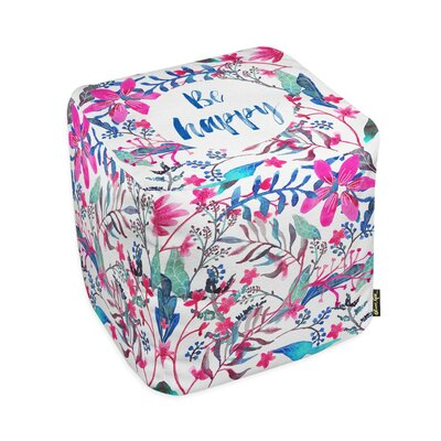 Oliver Gal Home Colorful Happy Cube Ottoman