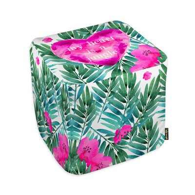 Oliver Gal Home Jungle Heart Cube Ottoman
