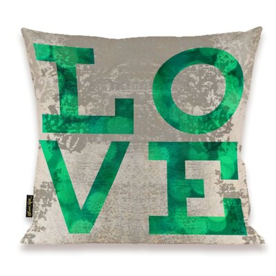 Oliver Gal Home Build on Love Fresh Throw Pillow
