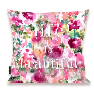 Oliver Gal Home Life in Wonderland Throw Pillow