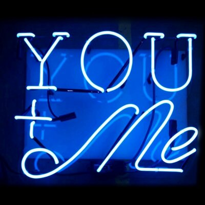 You and Me Neon Sign