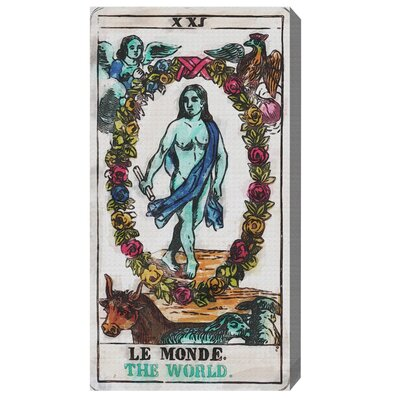 The Art Cabinet 'Tarot Le Monde' Graphic Art on Wrapped Canvas