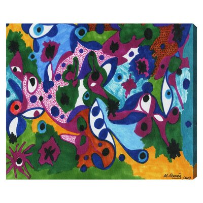 'Eyes All Around' by Manuel Roman Painting Print on Wrapped Canvas Size: 20