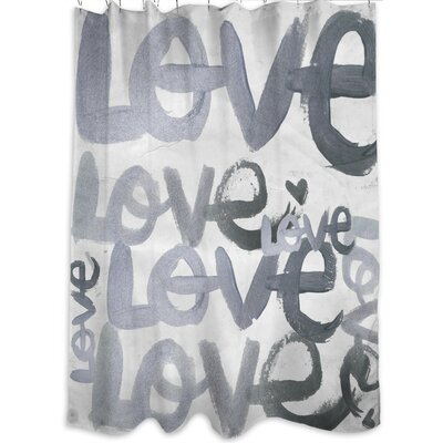 Oliver Gal Home Four Letter Word Shower Curtain