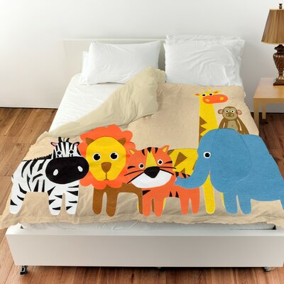 Jazlyn Safari Friends Duvet Cover Size: Queen