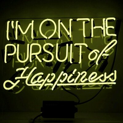 Furniture-'Pursuit of Happiness' Neon Sign