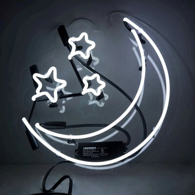 Furniture-'Moon and Stars' Neon Sign