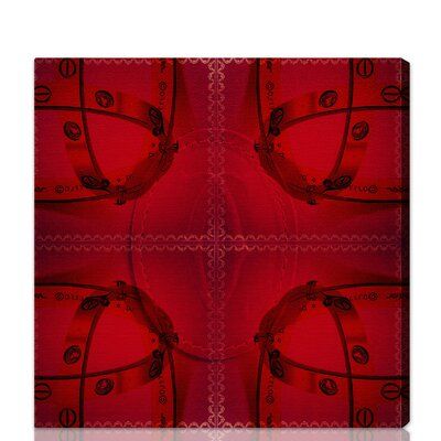 "Oliver Gal Red Box Graphic Art on Wrapped Canvas Size: 12"" x 12"" 10141_12x12"