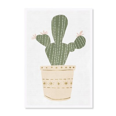 'Cactus Sage and Blush' Framed Graphic Art Print