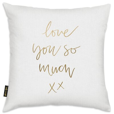Love You So Much Throw Pillow