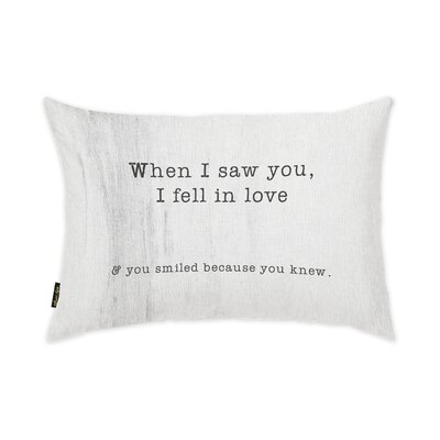 When I Saw You Lumbar Pillow
