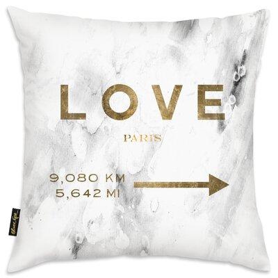Love Paris Road Sign Throw Pillow
