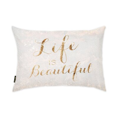 Life Is Beautiful Lumbar Pillow