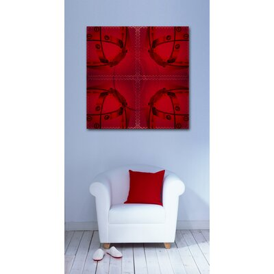 """Oliver Gal Red Box Graphic Art on Wrapped Canvas Size: 20"""" x 20"""" 10141_20x20_CANV_XHD"""