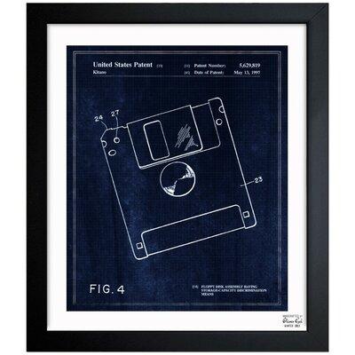 Oliver Gal Floppy Disk 1997 Framed Graphic Art 1B00137_15x18