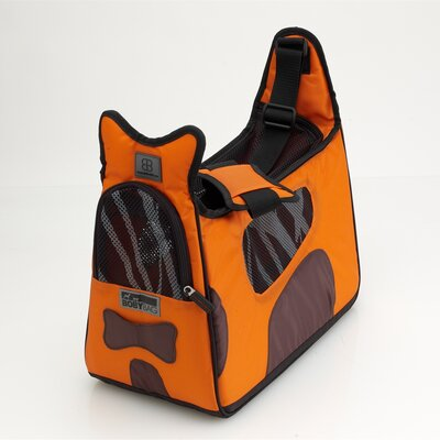 Boby Bag Pet Carrier Color: Orange/Brown