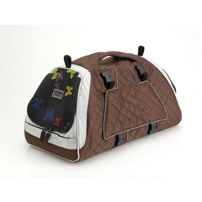 Jet Set Pet Carrier Size: Medium (10.6 H x 10.6 W x 19.7 L), Color: Brown and White Lining