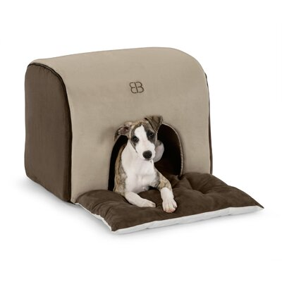 Soft Deck House Pet Carrier Color: Stone / Espresso, Size: Small