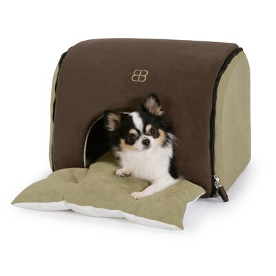 Soft Deck House Pet Carrier Color: Espresso / Sage, Size: Small