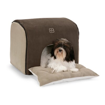 Soft Deck House Pet Carrier Size: Small, Color: Espresso / Stone