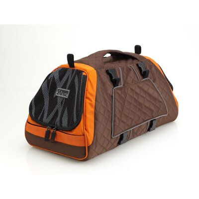 Jet Set Pet Carrier Size: Large (11.8 H x 9.8 W x 21.7 L), Color: Brown and Orange Lining