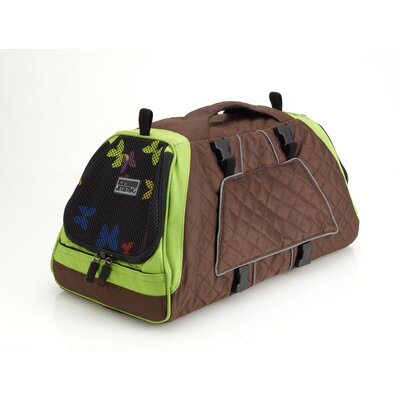 Jet Set Pet Carrier Size: Medium (10.6 H x 10.6 W x 19.7 L), Color: Brown and Green Lining