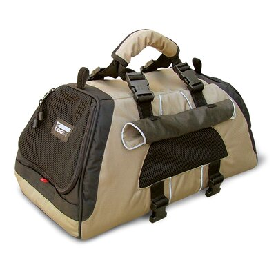 Jet Set Pet Carrier Size: Medium (10.6 H x 10.6 W x 19.7 L), Color: Beige and  Brown Lining