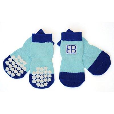 PetEgo Pet Socks (Set of 4) - Color: Blue / Light Blue, Size: Small at Sears.com