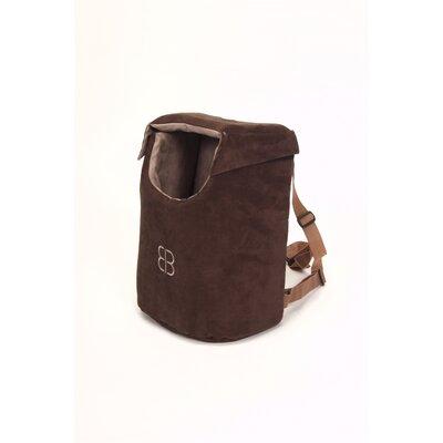Velvet Pet Carrier Bag Color: Espresso - Stone