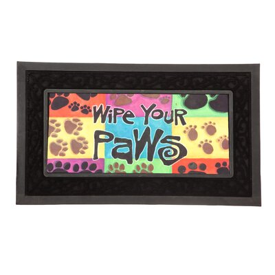 Decorative Insert Mat Wipe Your Paws Doormat