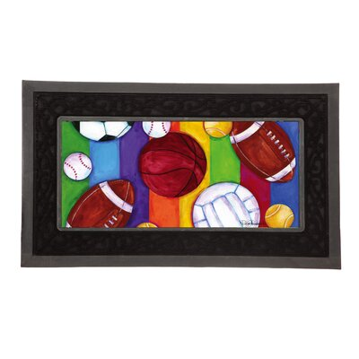 Sassafras Sports Decorative Insert Doormat
