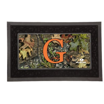 Sassafras Monogram Switch Doormat Letter: G