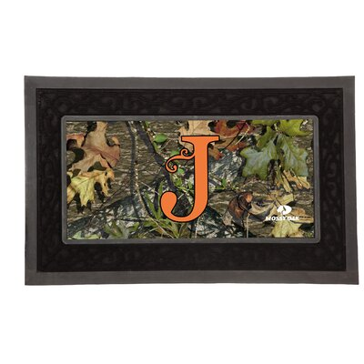 Sassafras Monogram Switch Doormat Letter: J