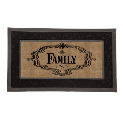 Sassafras Family Burlap Switch Doormat