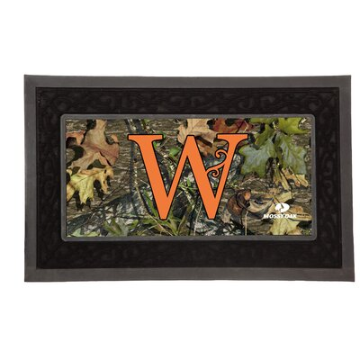 Sassafras Monogram Switch Doormat Letter: W