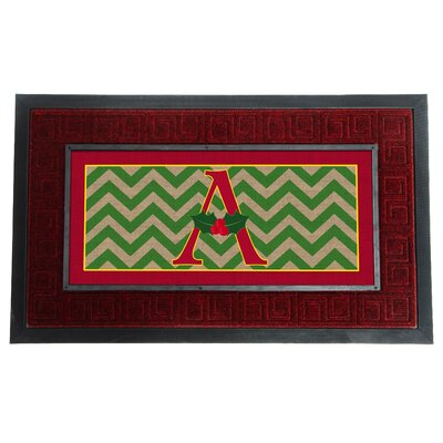 Sassafras Holly Monogram Switch Doormat Letter: A