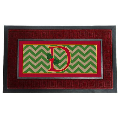 Sassafras Holly Monogram Switch Doormat Letter: D