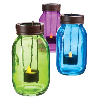 Evergreen Flag & Garden Mason Jar Candleholder EGFG6537 25911275