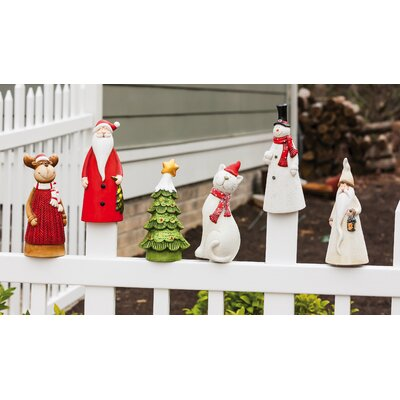 Animal Fence Post Perchers Christmas Decoration