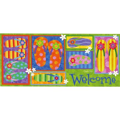 Sassafras Filp Flop Welcome Switch Doormat